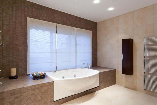 cortina painel para banheiro